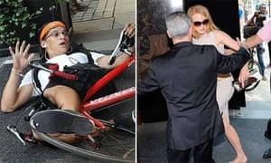 Nicole Kidman knocked over in New York by paparazzo cyclist
