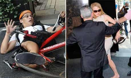 Nicole Kidman knocked over in New York by paparazzo cyclist