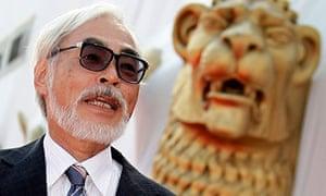 Japanese director Hayao Miyazaki at the Venice film festival 2008