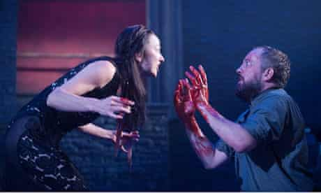 Leila Crerar as Lady Macbeth Keith Fleming as Macbeth.
