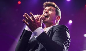 Robin Thicke at iTunes festival 2013 at the Roundhouse, London