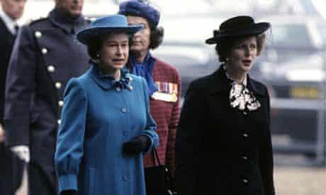 The Queen and Margaret Thatcher in 1983