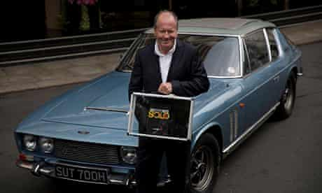 William Boyd with his James Bond novel, Solo.