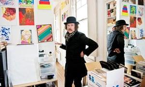 Martin Creed in his studio in east London
