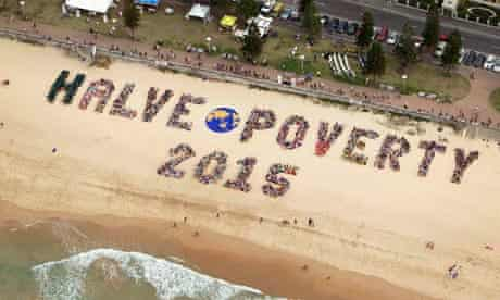 Campaigners Australia message on poverty
