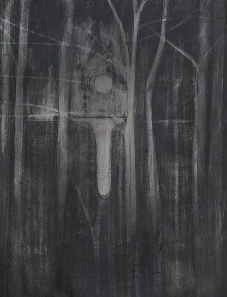 Silke Otto-Knapp's Trees and Moon (2012-2013).
