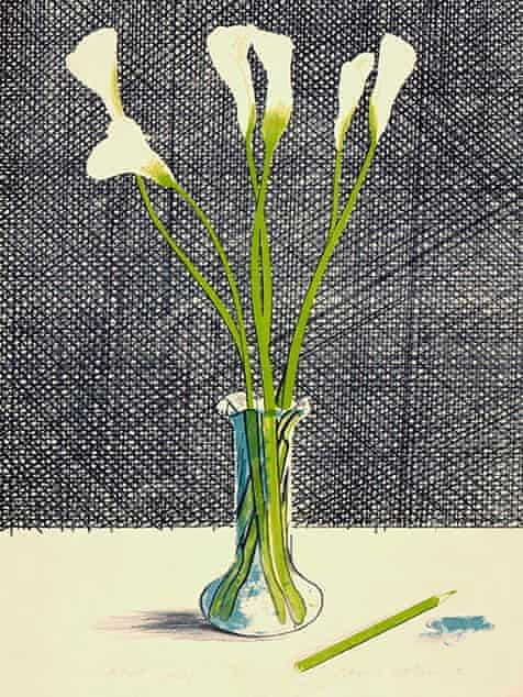 David Hockney: Lilies (1971)