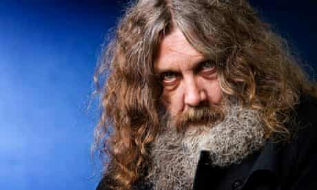 Drawing a line … Alan Moore, the creator of Watchmen.