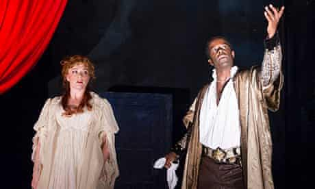 Holding the mirror up to nature … Charlotte Lucas and Adrian Lester in Red Velvet.