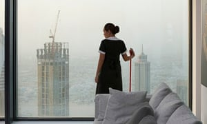 Cleaning up … Mercedes Cabral plays a Filipina maid in Dubai in Isaac Julien's Playtime.