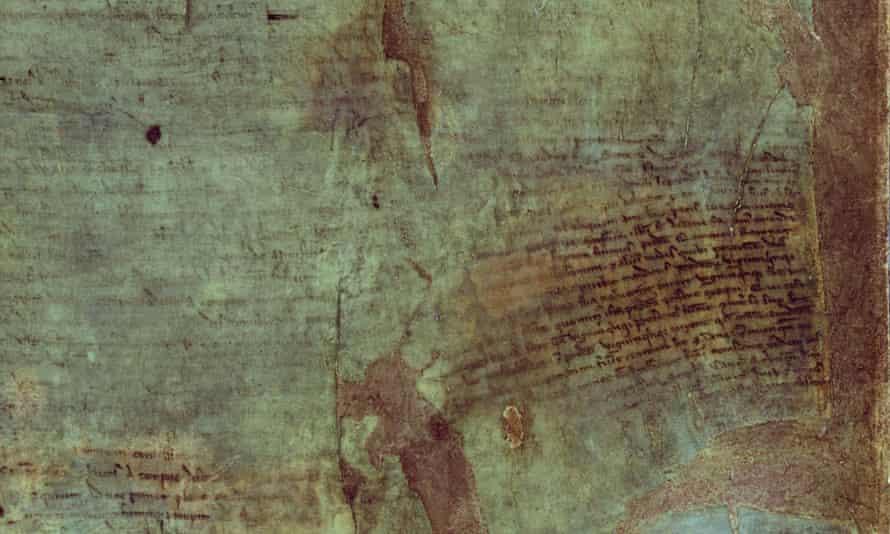 Magna Carta under UV light