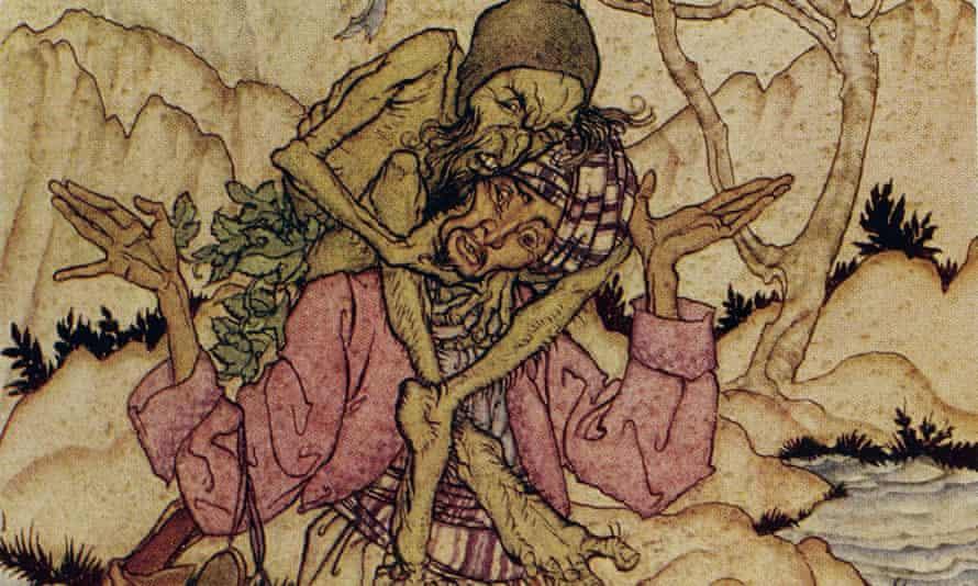 An Arthur Rackham illustration for Arabian Nights