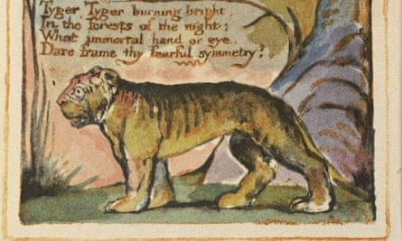 The Tyger, written and illustrated by William Blake