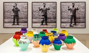 An installation by Ai Weiwei at the Perez Art Museum in Miami. The pot on the furthest right was lat
