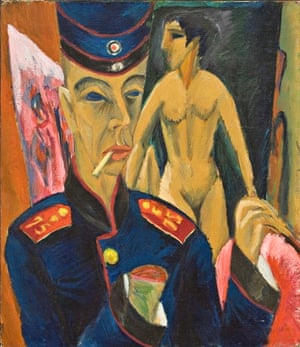 Selbstbildnis als Soldat (Self-portrait as a Soldier), by Ludwig Kirchner, 1915