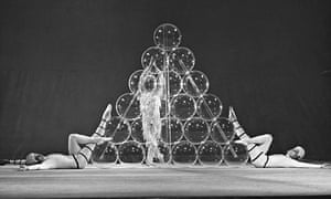 Clear success … Perspex balls were a feature of Derek Jarman's designs for the 1967 ROH production o