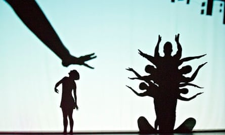 'Engaging but placid' … a scene from Shadowland by Pilobolus.