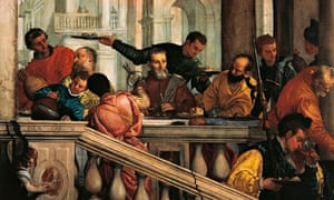 Glass half full … detail from The Feast in the House of Levi by Veronese.
