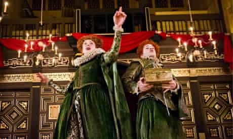Hannah McPake (Mistress Merrythought) and Giles Cooper (Michael) in The Knight Of The Burning Pestle