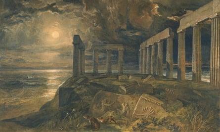 JMW Turner's The Temple of Poseidon at Sunium (Cape Colonna)