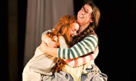Phoebe Thomas and Sarah Goddard in Hetty Feather