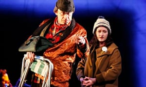 Great Scot … Sandy Grierson and Elicia Daly in The Beautiful Cosmos of Ivor Cutler at the Citizens t