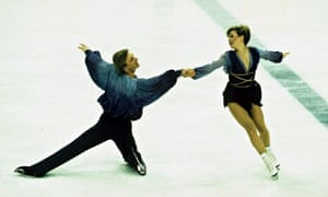 Dean and Torvill perform their dance at the 1984 Winter Olympics in Sarajevo,