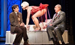 Zach Braff, Helene Yorke and Lenny Wolpe in the stage version of Bullets Over Broadway