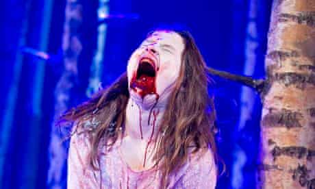 Blood wedding … Rebecca Benson as Eli in Let the Right One In at the Apollo theatre, London.
