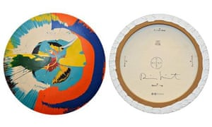 A counterfeit Damien Hirst spin painting
