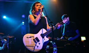 Beatific presence … Rachel Goswell of Slowdive performs at Village Underground, London