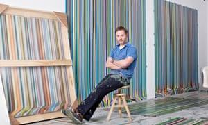 Artist Ian Davenport in his studio in Peckham