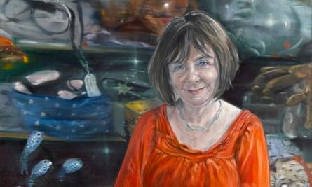 Peter Monkman's portrait of Julia Donaldson.