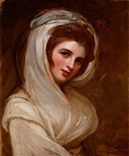 Emma, Lady Hamilton by George Romney.