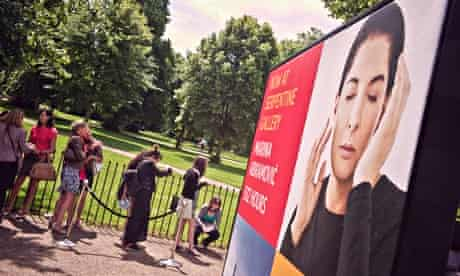 The queue for Marina Abramović at the Serpentine Gallery