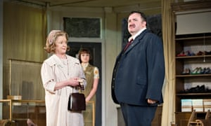 Bleary Salford Lear … Mark Benton, right, in Hobson's Choice at the Regent's Park Open Air theatre,