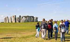 Tourists Visiting Stonehenge