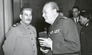 Stalin And Churchill At Yalta Conference