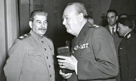 Stalin And Churchill At Yalta Conference