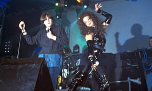 Shaun Ryder and Rowetta in 1990