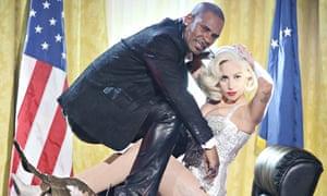 R Kelly and Lady Gaga performing last year