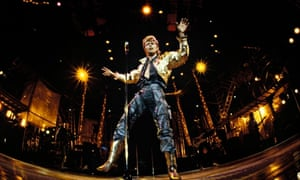 Starman … David Bowie onstage in 1987.