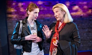 Talking it over … Georgina Rich and Charlotte Cornwell in Between Us at the Arcola in London.