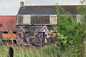 Work by an unknown artist in Doel.