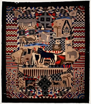 A patchwork bedcover (1842-52) by James Williams of Wrexham – part of British Folk Art