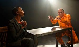 Matthew Marsh as De Kock, with Noma Dumezweni as Pumla Gobodo-Madikizela
