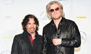 Oates and Hall being inducted into the Rock and Roll Hall of Fame