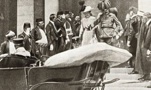 Archduke Franz Ferdinand of Austria and his wife, Sophie, shortly before their assassination