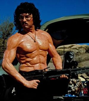 Yankovic as a Rambo knock-off in 1989's UHF