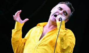 Brittish singer Morrisey performs during